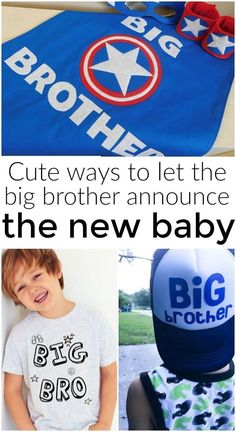 How to help your son announce your pregnancy. Let the new big brother announce the new baby! Fun pregnancy announcement ideas