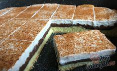 Skvělý pudinkáčik s polevou ze zakysané smetany | NejRecept.cz Vanilla Cake, Tiramisu, Muffins, Nutella, Cooking Recipes, Cupcakes, Sweets, Izu, Ethnic Recipes