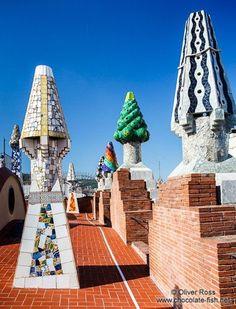 """Art from Spain - Antonio Gaudí (Reus 1852-Barcelona 1926), fue un arquitecto español, representante del """"Art Nouveau"""" arquitectónico. Murió en 1926, atropellado  por un tranvía y trás su muerte, Gaudí, cayó en un relativo olvido. En 1984 siete de las obras de Gaudí fueron declaradas por la UNESCO, World Heritage Sites. - Palace Güell , Barcelona, Spain."""