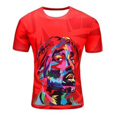 4267322c 2Pac - Graffiti Collection Unisex Tees 90s style T-Shirt 3d Cartoon,  Cartoon T