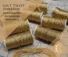 Shop our quality assortment of gold embroidery threads and goldwork threads by Ecclesiastical Sewing for both goldwork embroidery and hand embroidery. Crewel Embroidery Kits, Gold Embroidery, Embroidery Supplies, Embroidery Ideas, Tambour Embroidery, Couture Sewing Techniques, Brazilian Embroidery, Gold Work, Hand Sewing
