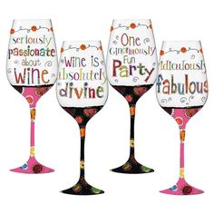 145 Best Decals Wine Glasses Images Wine Glass Girls Night In