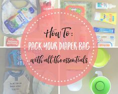 It is easy to overflow your diaper bag with items that you do not need. In this post, you will find a list of items that are absolutely necessary to pack in your diaper bag when leaving your house. You'll be fully prepared and won't have to worry about all the extra stuff!
