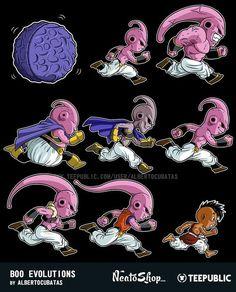 majin buu fases & dragon ball z Dragonball Evolution, Dbz Evolution, Majin Boo Kid, Fan Art, Buu Dbz, Chibi, Manga Anime, Anime Art, Son Goku