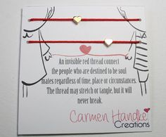 Love Bracelet red string of fate valentine perfect gift