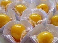 Docinhos de ovos caramelados