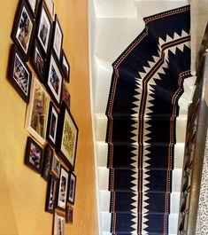 SOPHIE COONEY Stair Rug Runner, Stair Rugs, Stair Runners, Cornwall Cottages, Georgian Homes, Fulham, Basement Remodeling, Stairs, Post Office