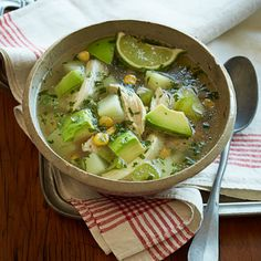 CROCK POT MEALS --- Chicken soup usually warms the soul, but this Southwestern recipe spices it up with jalapeño, cumin and cilantro. Get the recipe for Tex-Mex Chicken Soup Healthy Slow Cooker, Slow Cooker Recipes, Cooking Recipes, Healthy Recipes, Crockpot Recipes, Healthy Habits, Healthy Foods, Free Recipes, Healthy Eating