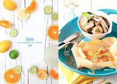 Três citrinos e um salmão, uma verdadeira tentação!