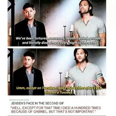 Except that time that Dean died over 100 times on a Tuesday!