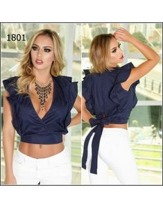 BLUSA COLOMBIANA B1801 Sports Crop Tops, Casual Summer Outfits, Fashion Outfits, Womens Fashion, Diy Clothes, Dress To Impress, New Look, Beautiful Dresses, Style Inspiration