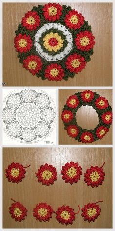 How to knit blanket edge crochet video tutorial Knitted Flowers, Crochet Flower Patterns, Crochet Motif, Crochet Stitches, Knitting Patterns, Stitches Makeup, Makeup Basket, Star Stitch, Christmas Projects
