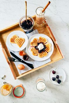 We've partnered with Michelle Lopez, founder of Hummingbird High, to create Valentine's Day breakfast recipes with options both sides will love.