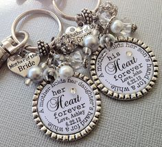 Mother of the BRIDE gift / MOTHER of the GROOM Set by buttonit