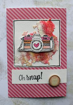 Riikka Kovasin - Paperiliitin: Oh snap! - Wow Embossing / Pink and Main
