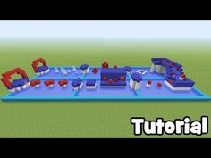 "Minecraft Tutorial: How To Make A Wipe out Parkour Course ""Easy Parkour Tutorial. Minecraft Park, Cool Minecraft Banners, Minecraft Shops, Easy Minecraft Houses, Minecraft Videos, Minecraft Blueprints, Minecraft Redstone, Minecraft Designs, Minecraft Creations"
