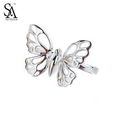 SA SILVERAGE 925 ...  Click To Order  http://jere-miah-jewelry.myshopify.com/products/sa-silverage-925-sterling-silver-rings-sets-for-women-fine-jewelry-butterfly-double-fingers-2017-new-arrival?utm_campaign=social_autopilot&utm_source=pin&utm_medium=pin We Ship Worldwide!