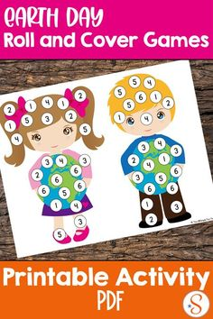 Try these simple math games for preschoolers and kindergarteners: Earth Day Roll and Cover Games! All you need is a die, some manipulatives, and you're ready to play! Preschool Math Games, Math Activities For Kids, Infant Activities, Teaching Kids, Number Activities, How To Teach Kids, Simple Math, Math Numbers, Earth Day