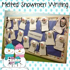 Melted snowman Writing!