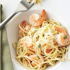 Fresh Herb Shrimp Linguini (paleo approved-use veggie pasta or spaghetti squash)