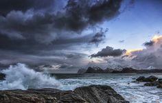 Arctic National Wildlife Refuge   Обои clouds, ocean, rocks, mountains картинки на рабочий ...