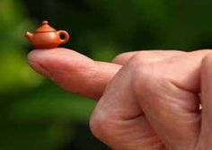 Smallest teapot in the world by Chinese master potter Wu Ruishen