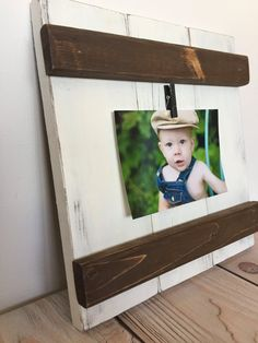This frame, full of rustic charm and primitive appeal is sure to add beauty and character to your walls or fireplace mantle. Its simple design allows for the easy transition of photos, making it quite practical as well. This frame is also perfect for gallery walls giving dimension