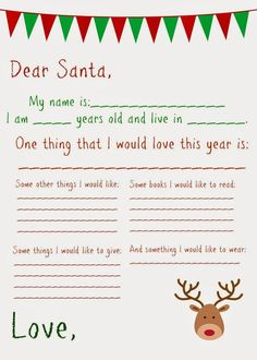 Free Printable Santa Letters For Kids  Free Printable Santa