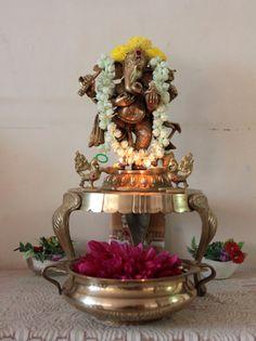 Ganpati Bappa at Chennai's Burrper Aravind's home