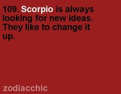 Scorpio fact from ZodiacChic.