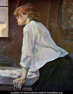 Henri de Toulouse-Lautrec - The Laundress (La blanchisseuse)