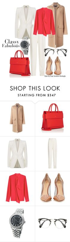 """""""Business look 2017"""" by fashion4you-munich on Polyvore featuring Rochas, Givenchy, Alexander McQueen, Joseph, Agnona, Gianvito Rossi and Rolex"""