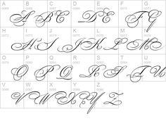 fancy calligraphy | Bickham Script Two details - Free Fonts at FontZone.net
