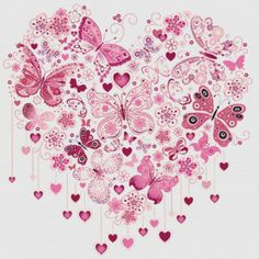 Butterfly Heart Cross Stitch Pattern - product images of