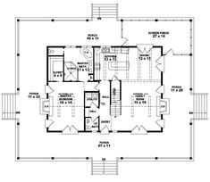654117 one and a half story 3 bedroom 25 bath country style house country style house planswrap around porchesone