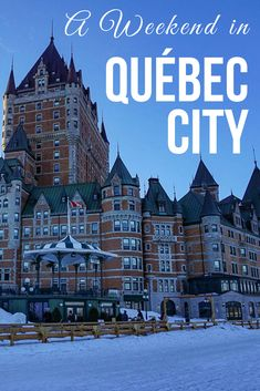 A Canadian Weekend in Québec City Québec City is a magical place. It's like a trip to Europe without leaving North America. Spend the perfect weekend in Québec City with these things to do. Canada Destinations, Canadian Travel, Best Travel Guides, Visit Canada, Quebec City, Travel Inspiration, Travel Ideas, Travel Tips, Travel Couple