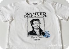A Little Tipsy: Flynn Rider Wanted Poster Shirt