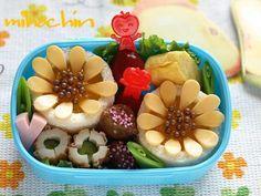 Sunflower sandwich bento