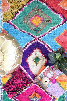 Beautiful Moroccan rug. Ones similar to these on our site: http://www.casablancamarket.com/collections/moroccan-vintage-beni-ouarain - http://www.casablancamarket.com/products/lp0015