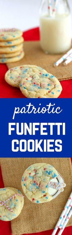 Patriotic Funfetti Cookies