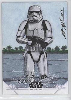 Scott Houseman; Stormtrooper #1/1 (Trading Card) 2016 Topps Star Wars: Rogue One Series 1 - Sketch Cards #SHST
