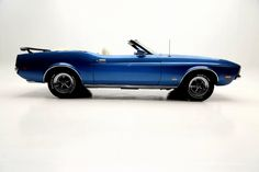 1972 Ford Mustang Convertible Blue Q Code 351C White int. - American Dream Machines | Classic and Muscle Cars
