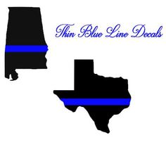Thin Blue Line State Glossy Vinyl Decal Sticker--FREE SHIPPING! by HaleighMichelleVinyl on Etsy