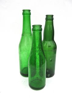 Green Soda Bottles 7 Up Canada Dry Instant by worldvintage on Etsy
