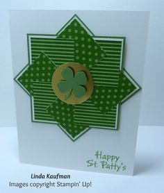 Linda K's Stampin' Page: Stampin' Up! In Colors Designer Series Stack St. Patrick's Day Quilt Card