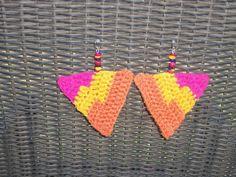 """Crochet Earrings """"Funky Spearheads"""""""