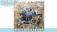 Mixed media scrapbook layout using products from @imaginecrafts & Echo Park Carta Bella Old World Travel Collection by @scrappinready