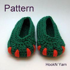 Ravelry: Monster Booties - Dinosaur Booties pattern by HookN Yarn; Amie Hartman