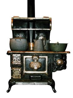 My grandmother had a coal stove very much like this one. I loved it and still do. :)