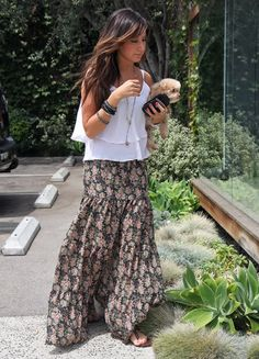 yes yes yes!  super cute maxi skirt and nice breezy top (crochet or lace for me, please!) would be easy breezy fest fashion